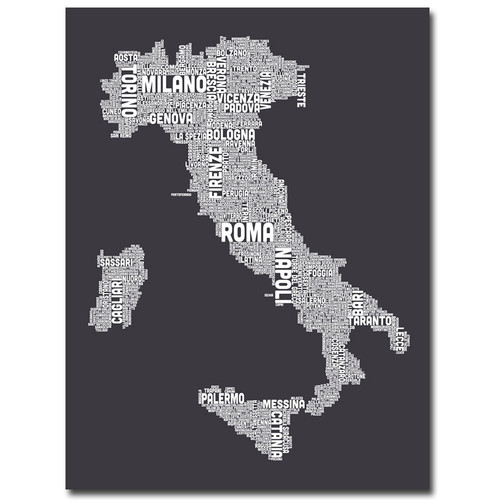 Trademark Global Michael Tompsett 'Italy in Charcoal' Canvas Art [Overall Dimensions : 35x47]