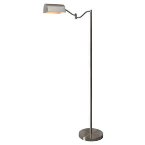 Kenroy Home Wellesley Floor Lamp in Brushed Steel