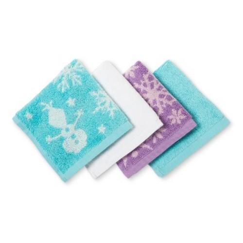Disney Frozen Purple Washcloth Set - 4pc