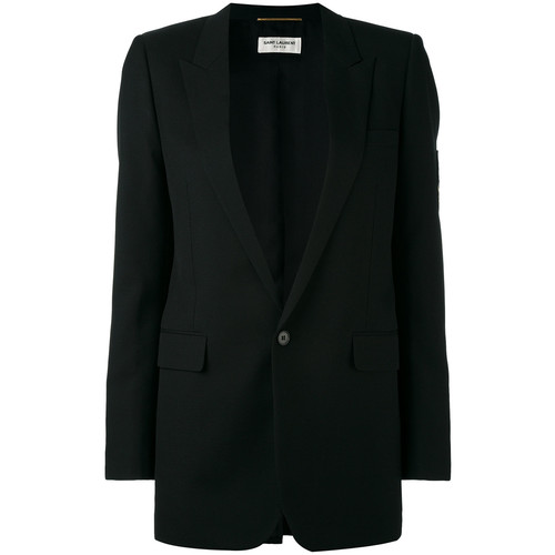 SAINT LAURENT Classic Single Breasted Long Tube Jacket