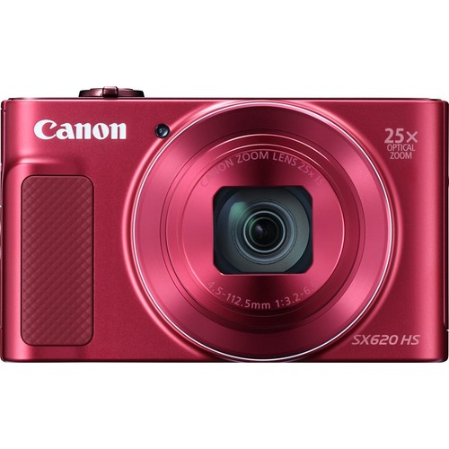 Canon PowerShot SX620 HS (Red) 20.2-megapixel digital camera with Wi-Fi and 25X optical zoom