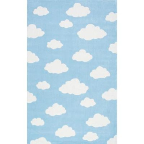 nuLOOM Cloudy Sachiko Blue 5 ft. x 8 ft. Area Rug