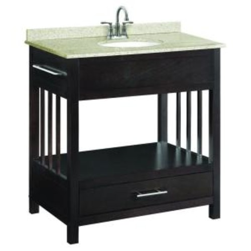 Design House Ventura 30 in. W x 21 in. D Console Unassembled Vanity Cabinet Only in Espresso