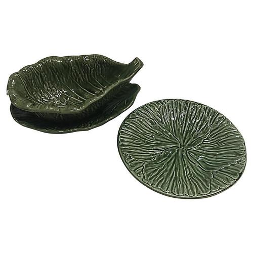 Cabbage Leaf Serving Set, 3 Pcs