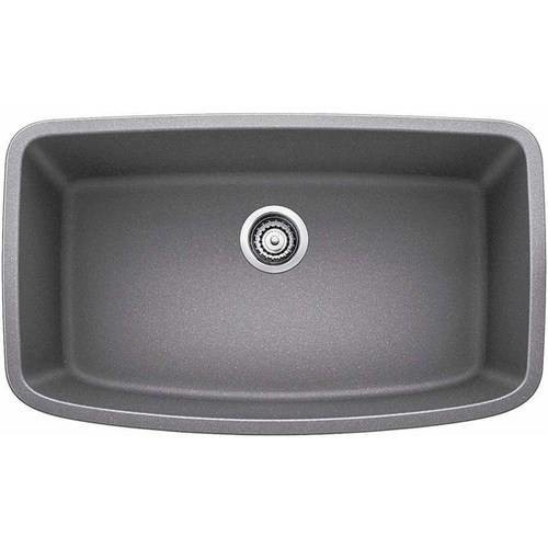 BLANCO Valea 32-in x 19-in Metallic Gray (Gray) Single-Basin Granite Undermount Residential Kitchen Sink