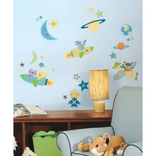 Roommates RMK2163SCS Rocket Dog Peel and Stick Wall Decals