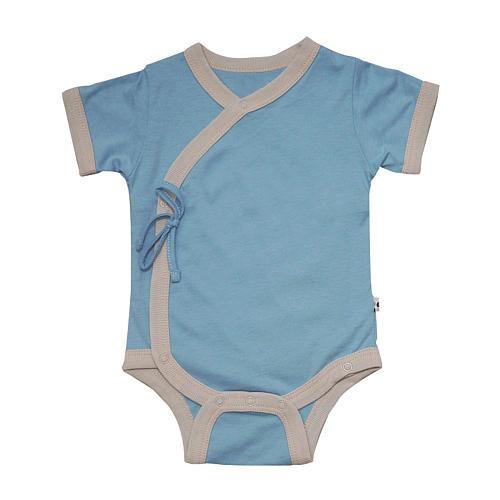Babysoy Boys Ocean Short Sleeve Kimono Bodysuit
