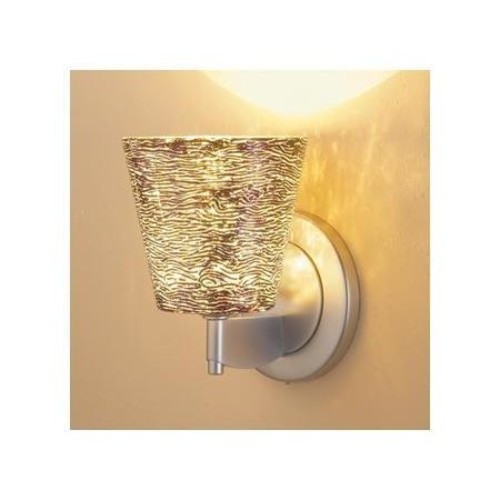 Bling I Wall Sconce w Silver Textured Glass w Silver Textured Glass (Matte Chrome)