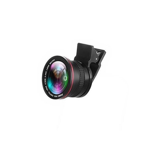 ZoMei 2 in 1 Clip-On Professional HD Camera Lens with 37mm Thread 0.42X Super Fisheye Lens 10X Macro Lens for iPhone Samsung Sony And All Other Smartphones