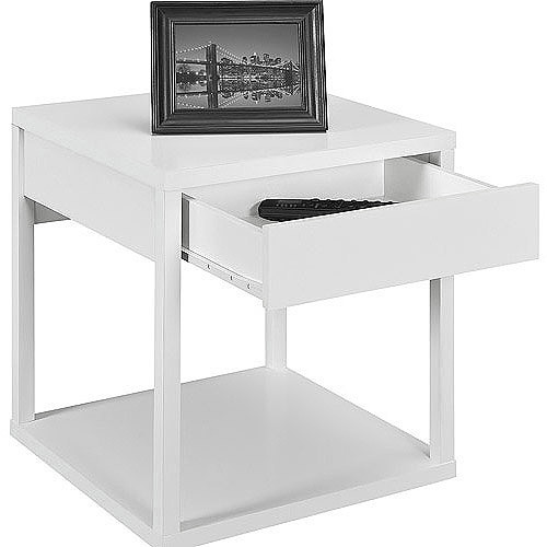 Altra Furniture Delilah Square End Table in White