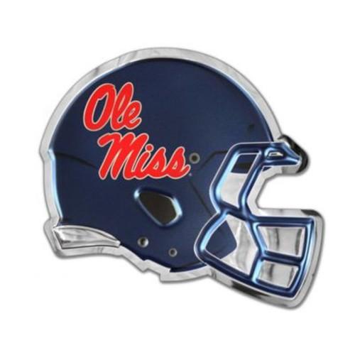 University of Mississippi Medium Football Helmet Wall Art in Red/White/Blue