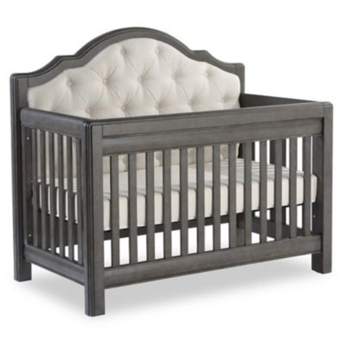 Pali Cristallo Forever 4-in-1 Convertible Crib in Granite