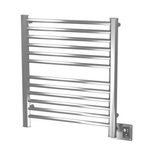 Amba Sirio S-2933 29 in. W x 33.25 in. H 12-Bar Electric Towel Warmer in Brushed Stainless Steel