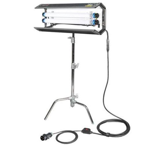 Filmgear LED Flo-Box 2 Bank 2 ft., Lighting Fixture with 2 Bulbs, 5600K Daylight 605821