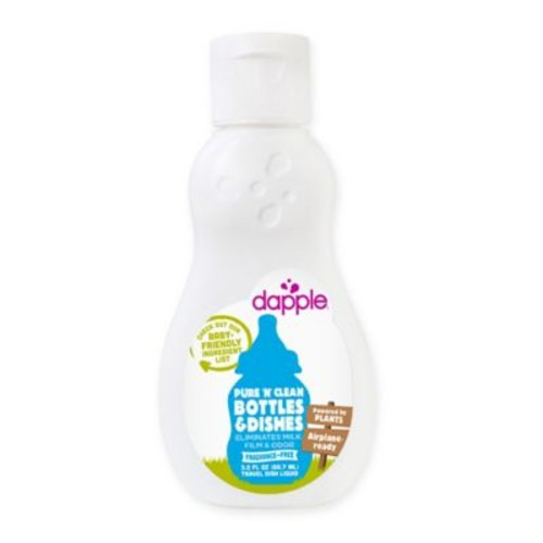 dapple 3 oz. Pure 'N' Clean Bottles and Dishes Dishwashing Liquid in Fragrance-Free