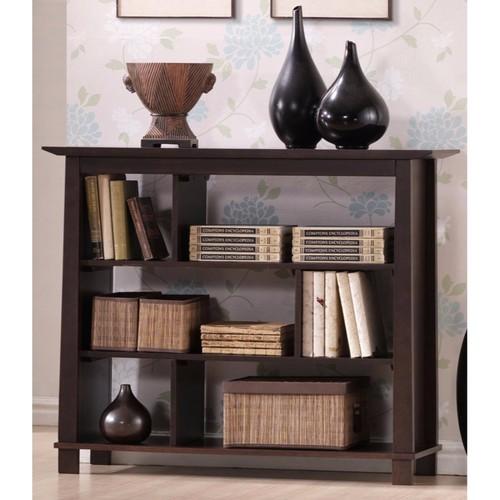 Baxton Studio Havana Short Wood Modern Bookcase, Brown [Short]