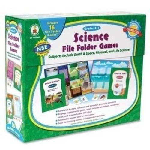 Science File Folder Games Grades K - 1 Educational Board Game