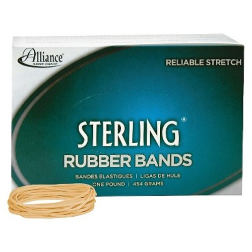 Alliance Sterling Rubber Bands, Size 19, 1 lb. Box (Approx. 1700 Bands)