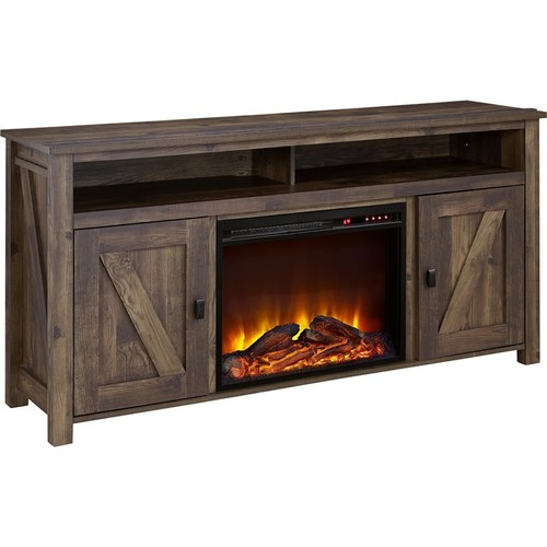 Ameriwood Home Altra Furniture Farmington 60'' Fireplace TV Stand in Heritage Pine