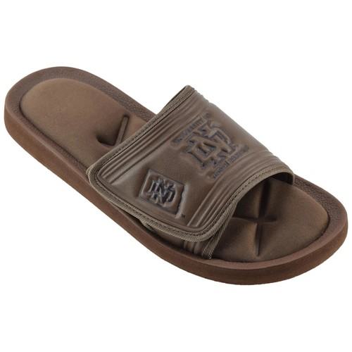 NCAA Men's University of North Dakota Brown/Black Slide Sandal