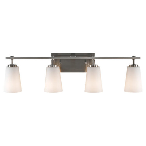 Feiss Sunset Drive 4 - Light Vanity Fixture, Brushed Steel