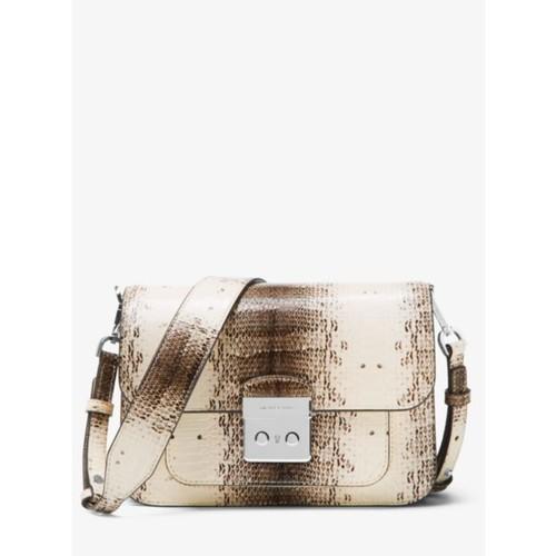 Sloan Editor Snake-Embossed Leather Shoulder Bag