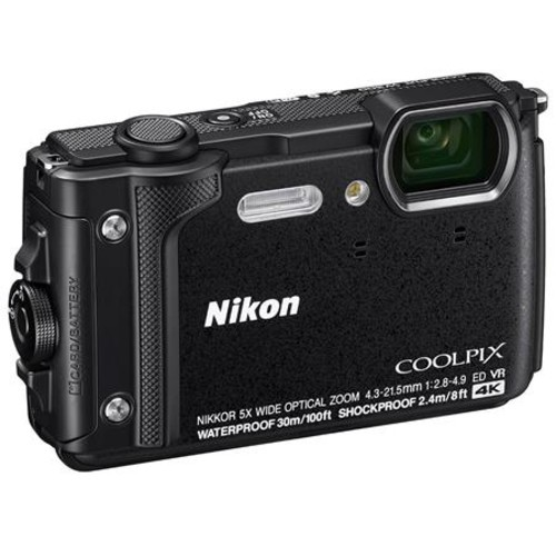 Nikon Coolpix W300 Point & Shoot Camera, Black With Premium Accessory Bundle