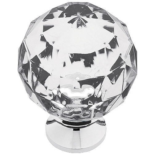 Liberty 1-3/16 in. Chrome with Clear Faceted Acrylic Ball Cabinet Knob