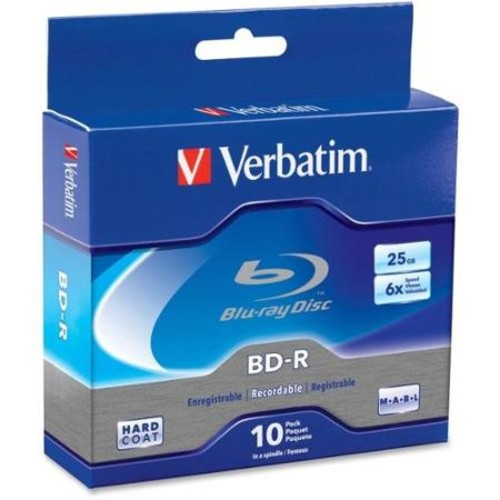 Verbatim BD-R 25GB 6X with Branded Surface - 10pk Spindle Box