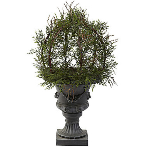 Nearly Natural 30 Pond Cypress Topiary With Urn Indoor/Outdoor