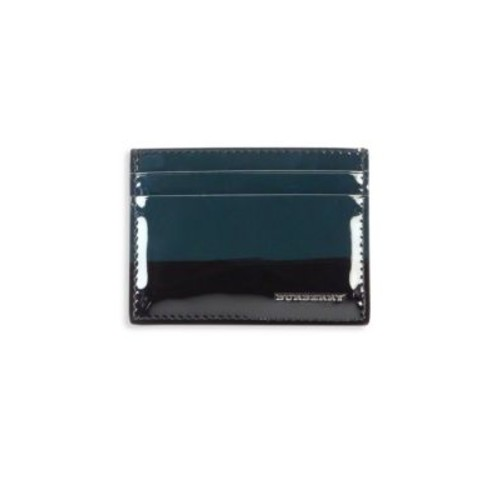 BURBERRY Sandon Striped Patent Leather Card Case