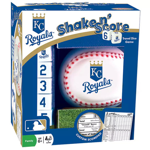 Kansas City Royals Shake 'n' Score Travel Dice Game