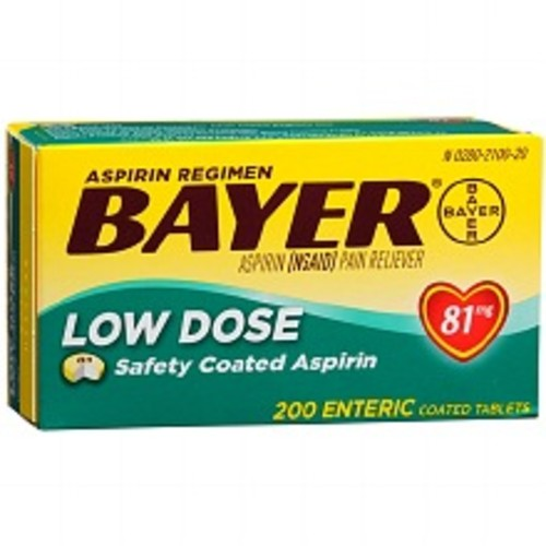 Bayer Aspirin Low Dose 81 mg Enteric Coated Tablets