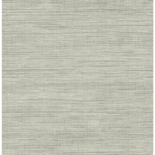 Brewster Island Grey Faux Grasscloth Wallpaper Sample