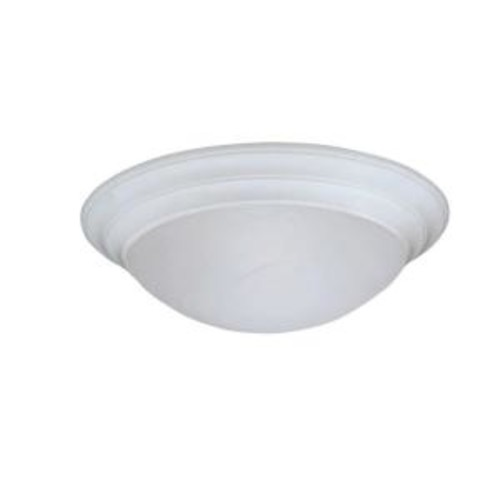 Designers Fountain Clovis Collection 1-Light Solid White Ceiling Flushmount
