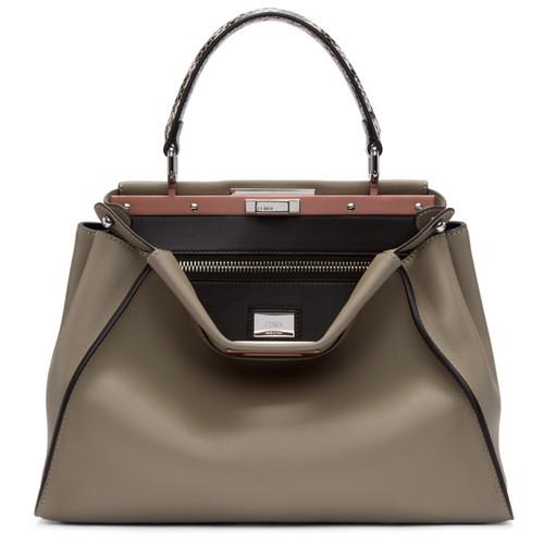 FENDI Taupe Regular Peekaboo Bag
