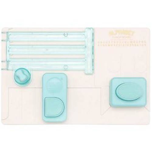 American Crafts We R Memory Keepers Alphabet Punch Board Kit - Punch Board w/ Blade, Instruction Booklet