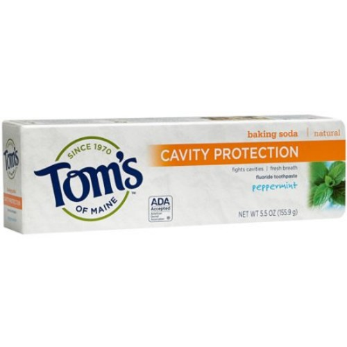 Tom's Of Maine Cavity Protection Toothpaste Peppermint, 5.5 OZ