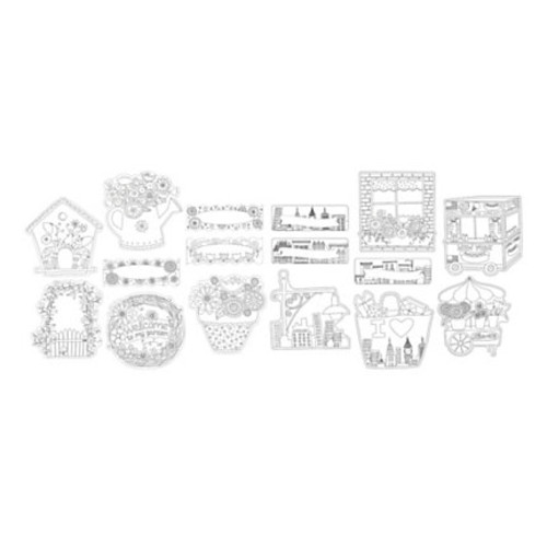 Barker Creek Accents, Double-Sided, Color Me, Pack Of 72