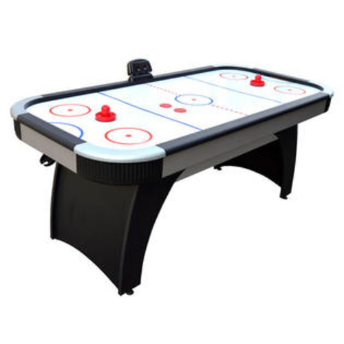 Blue Wave Hathaway Silverstreak 6' Scratch-Resistant Air Hockey Table with 110 V Blower Motor and Arched Pedestal Legs