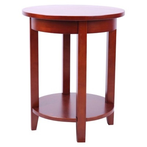 Round Accent Table Hardwood Cherry - Alaterre Furniture