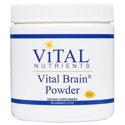 Vital Nutrients Vital Brain Powder Lemon -- 3.15 oz