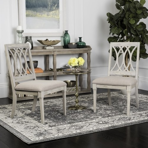 Safavieh Selena Taupe / Rustic Grey Velvet Dining Chair (Set of 2)