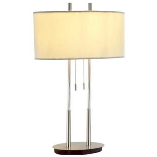 Adesso 4015-22 Duet Table Lamp Satin Steel Finish