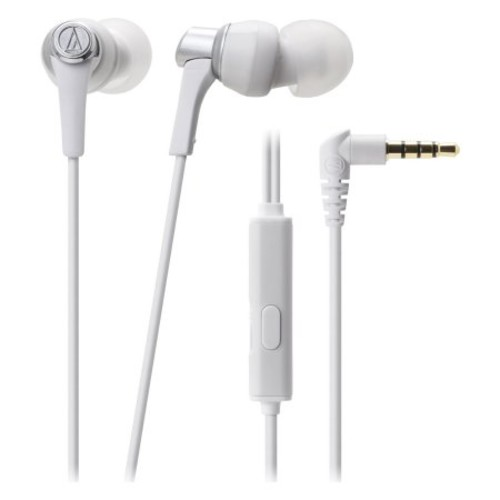Audio-Technica SonicPro In-Ear Headphones with In-Line Microphone and Control - White