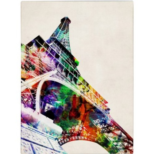 Eiffel Tower by Michael Tompsett, 35 by 47-Inch Canvas Wall Art [35 by 47-Inch]
