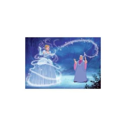 RoomMates 72 in. x 126 in. Disney Princess Cinderella Magic XL Chair Rail 7-Panel Prepasted Mural