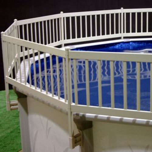 Vinyl works Above Ground Pool Fence Kit (8 Section) - Taupe