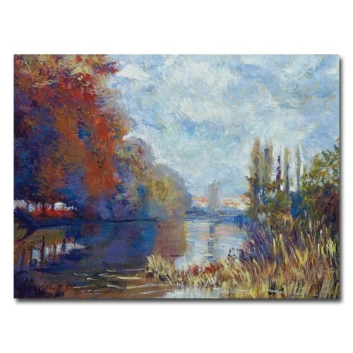 Argenteuil on the Seine by David Lloyd Glover, 18x24-Inch Canvas Wall Art [18 by 24-Inch]