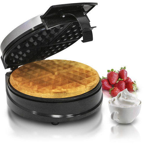 Elite Cuisine - Belgian Waffle Maker - Stainless-Steel